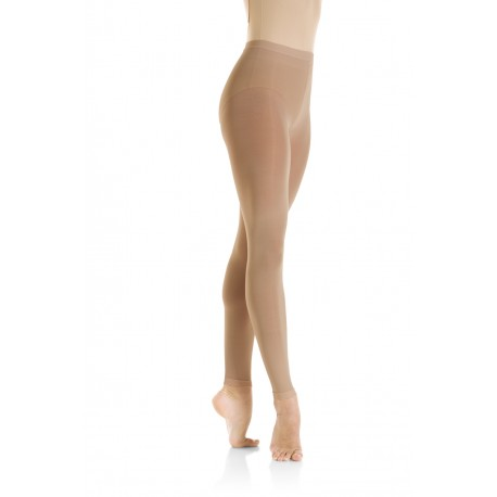 Balletpanty voetloos huidskleur supplex